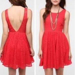 Urban Outfitters Pins & Needles Red Lace Dress